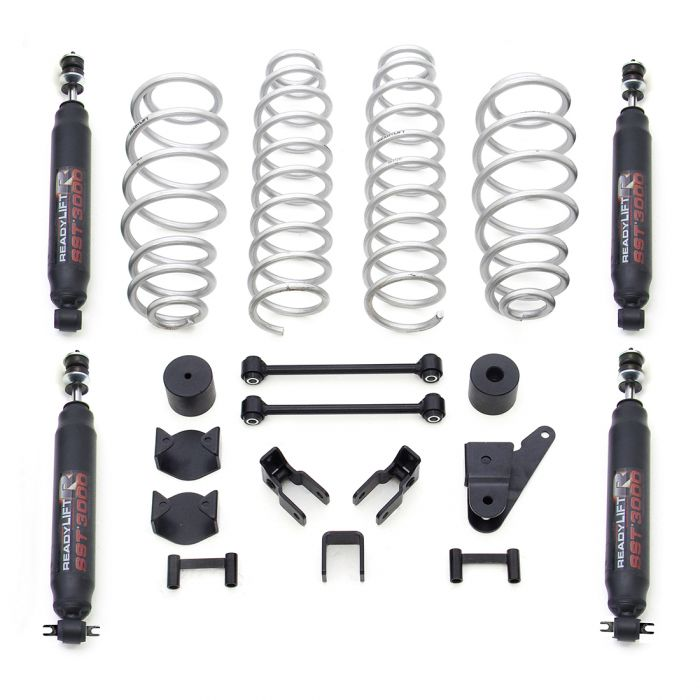 2.5'' COIL SPRING LIFT KIT WITH SST3000 SHOCKS - JEEP JK WRANGLER 4WD 2007-2018