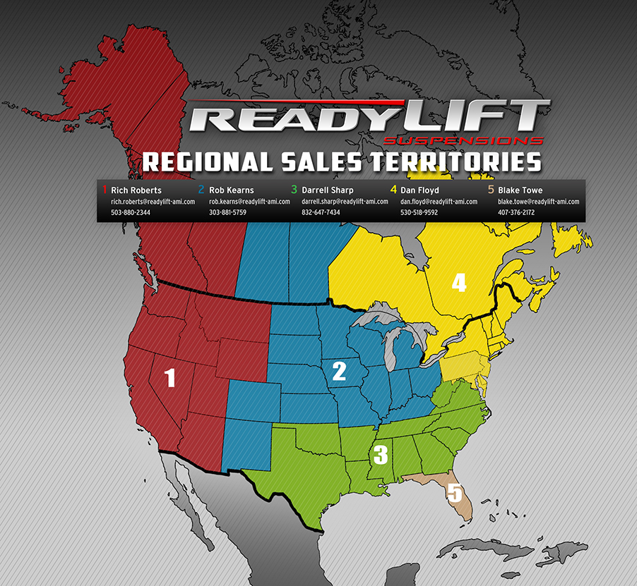 readylift us sales map