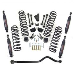 Jeep JK Wrangler 4 inch lift kit with shocks and track bar